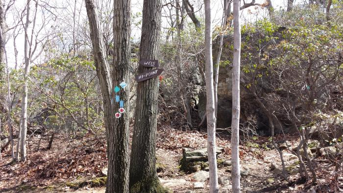 hike norvin mountain otter hole to weis ecology center