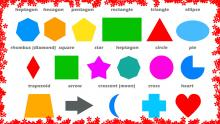Different types of 2D shapes